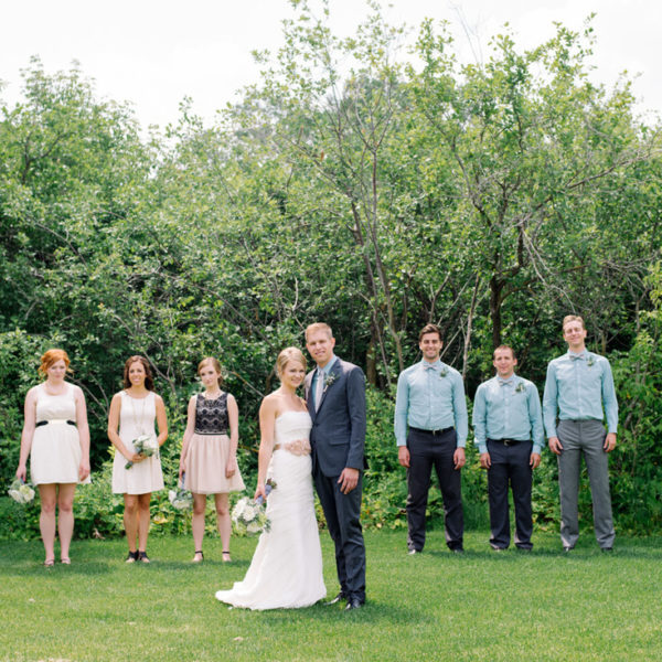 Kaitlyn and Bryan - Part 2 - First look and  wedding party session - Wedding at Hawthorn Estate in Manitoba