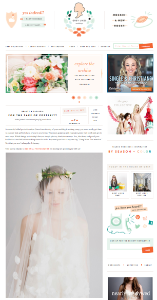 Feature on GREY LIKES WEDDINGS!